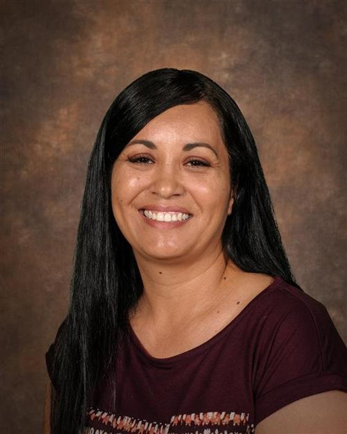 PIctured is Alejandra Macario, SHS Athletic Assistant and Bookstore Secretary