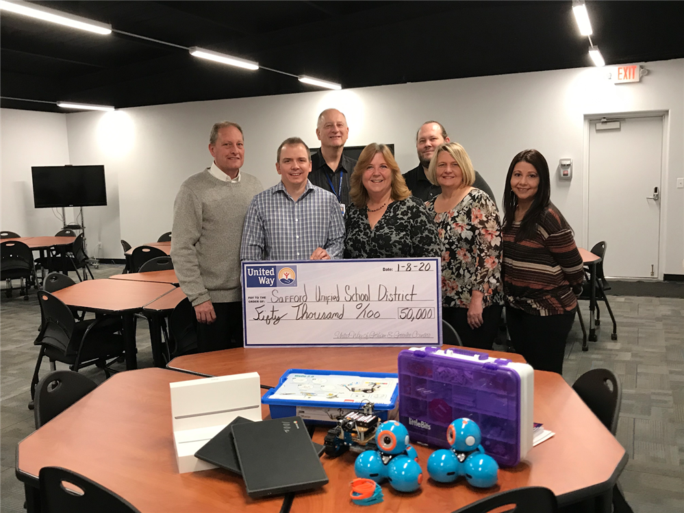 SUSD IT department receives United Way Grant