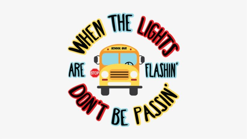 School bus with lights flashing